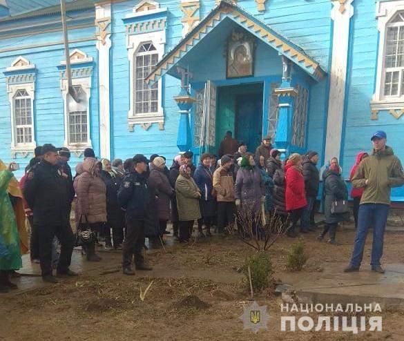 Вы пришли молиться? И мы пришли молиться!, - в Винницкой области прихожане ПЦУ и УПЦ МП не поделили храм 02