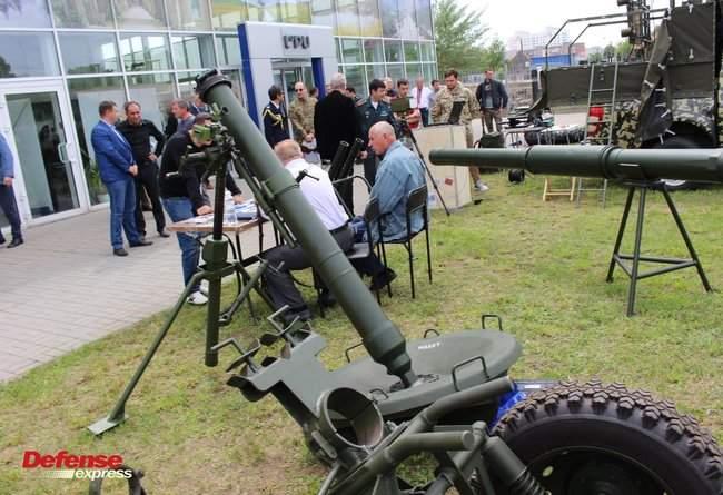 Танковая пушка, 120-мм миномет Бучарда, РЛС, антидроновские винтовки и цифровой солдат: в Броварах представили новые образцы от украинских частных оборонных компаний 04
