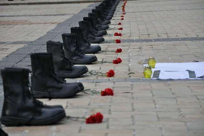 49 пар берцев: в Киеве почтили память воинов, погибших 5 лет назад при крушении ИЛ-76 21
