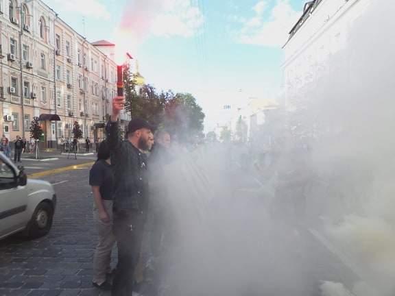 В Киеве возле здания СБУ прошла акция Когда сядет Медведчук? 12