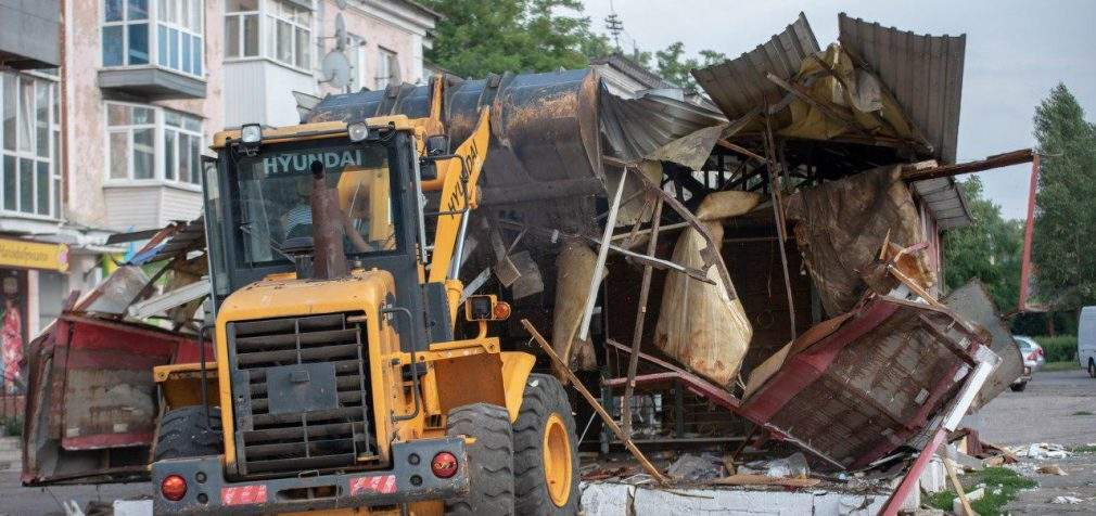 У Кам'янському на Соцмісті демонтували чергову розливайку
