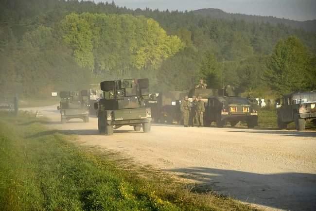 Рота 93-й ОМБр в составе механизированного батальона США принимает участие в международных учениях Combined Resolve-XII 12