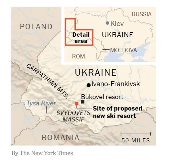 The New York Times заменило фото с картой Украины без Крыма в своей статье 01