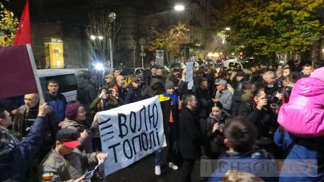 Тополі - волю, - под посольством Польши в Киеве проходит акция в поддержку задержанного ветерана 06