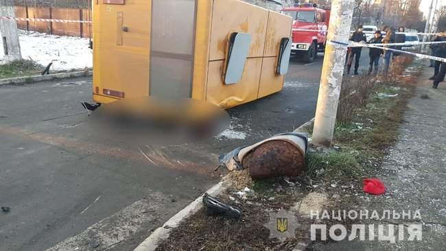 В Буче в результате ДТП с участием маршрутки погибли два человека, трое госпитализированы, - Нацполиция 05
