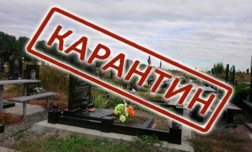 Кладовищі на карантині