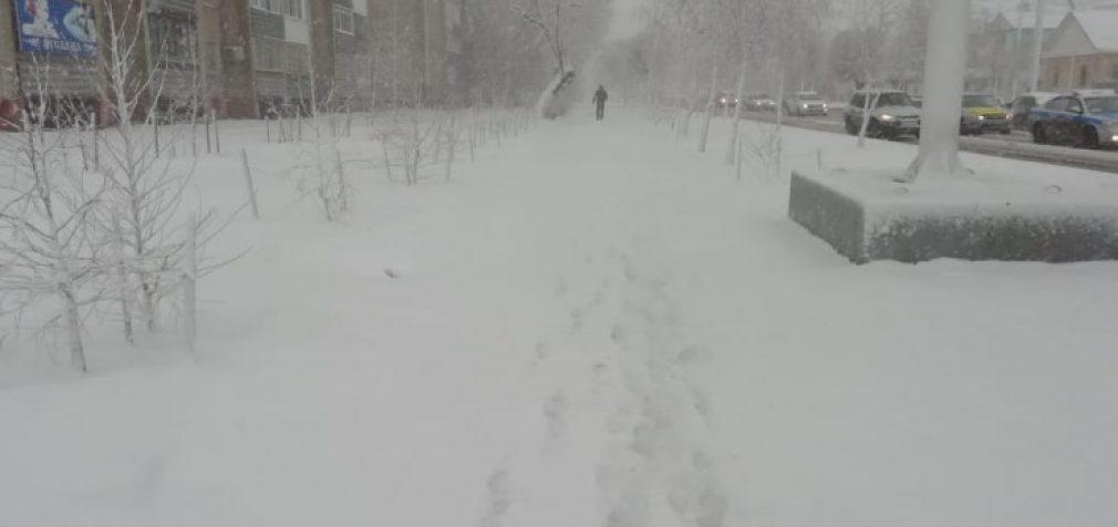 В Казахстане из-за снежных буранов объявили чрезвычайную ситуацию