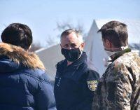 Под Днепром спасатели установили палаточный городок для обсервации сотни людей, – ФОТО