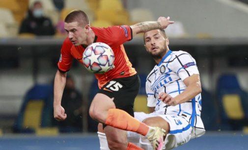 Футбол: «Шахтар» зіграв унічию з «Інтером»