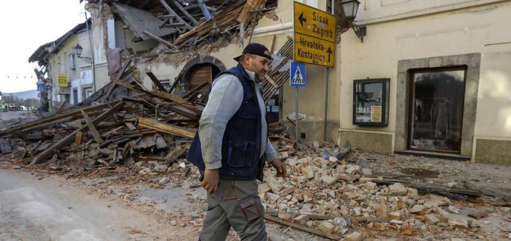 В Хорватии – серия землетрясений, разрушен город, семь жертв