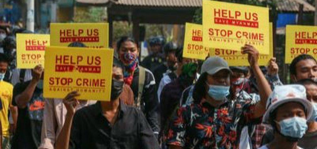 В Мьянме погибли уже 320 участников акций протеста