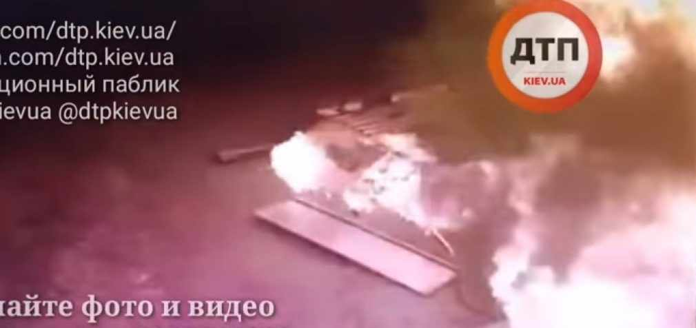 Появилось видео, как взорвалась заправка под Киевом