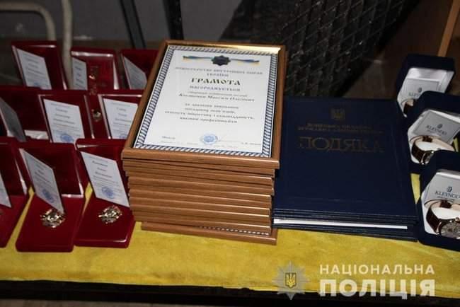 Добровольцы, которые несут службу в зоне проведения ООС, получили награды от руководства МВД и Нацполиции 08