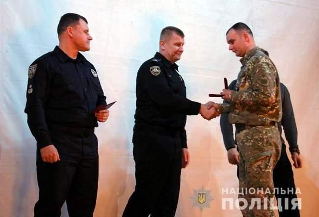 Добровольцы, которые несут службу в зоне проведения ООС, получили награды от руководства МВД и Нацполиции 06