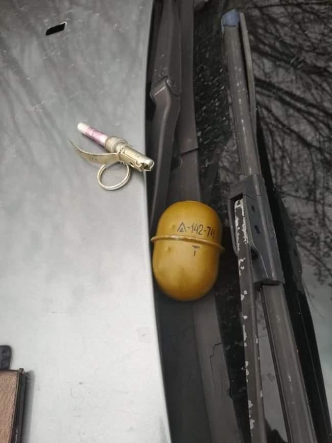 Полиция на Днепропетровщине применила оружие, чтобы задержать евробляхера с гранатами 04